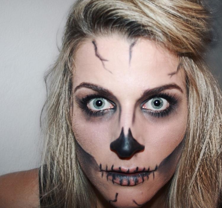 Halloween Make Up Skull Face Tanja Rickerts Blog